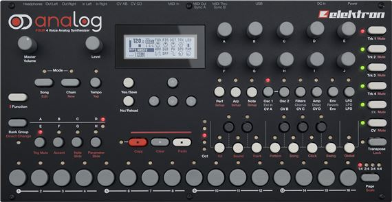 Elektron Analog Four Desktop Analog Synthesizer