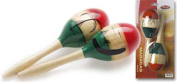 Stagg Wooded Oval Mexican Maracas Pair