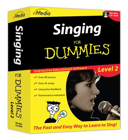 eMedia Singing For Dummies Level 2 Software