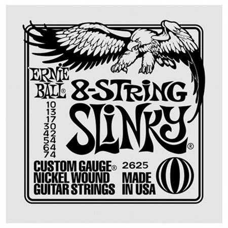 Ernie Ball 2625 8 String Slinky Electric Guitar Strings
