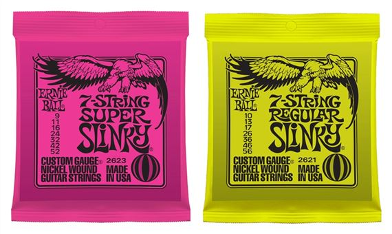 Ernie Ball 7 String and 8 String Electric Guitar Strings