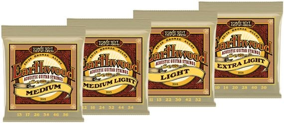 Ernie Ball Earthwood Acoustic 80/20 Bronze Guitar Strings