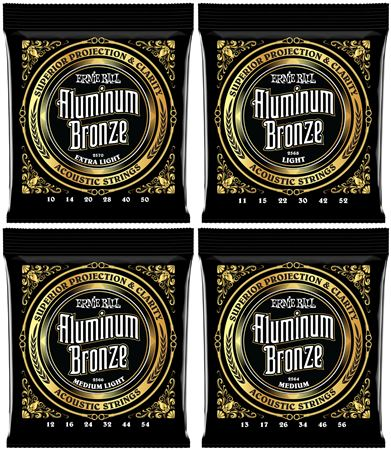 Ernie Ball P02564 Aluminum Bronze Acoustic Medium Strings