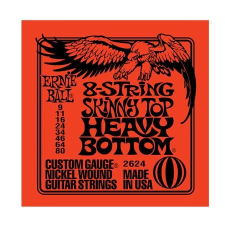 Ernie Ball 2624 8-String Skinny Top Heavy Bottom Guitar Strings