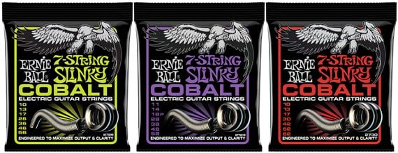 Ernie Ball Cobalt 7-String Slinky Electric Guitar Strings