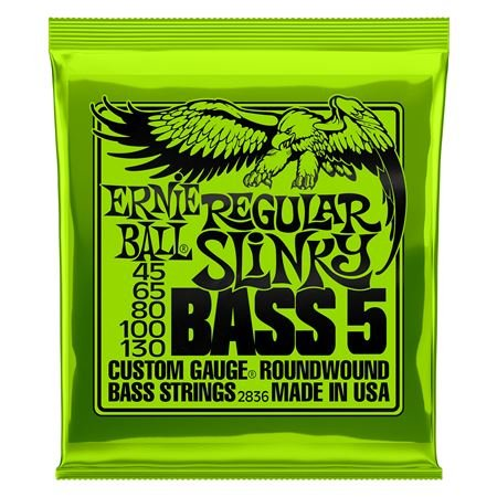 Ernie Ball P02836 Regular Slinky 5-String Bass Nickel Wound Strings
