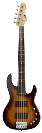 ESP E-II AP5 5 String Electric Bass with Case Tobacco Sunburst