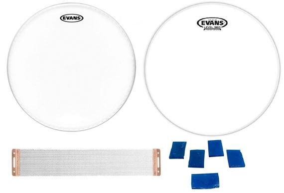Evans G1 Coated Drum Head and Hazy 300 Snare Head with Snare Wires