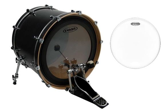 "Evans EMAD 2 Clear 22"" Bass and Genera G1 Coated 14"" Drum Head Pak"
