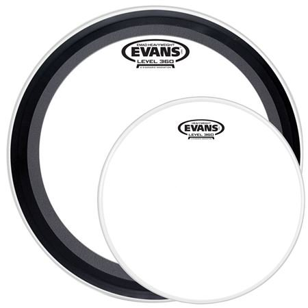 Evans EMAD Heavyweight Knockout Pak Bass and Snare Drum Heads