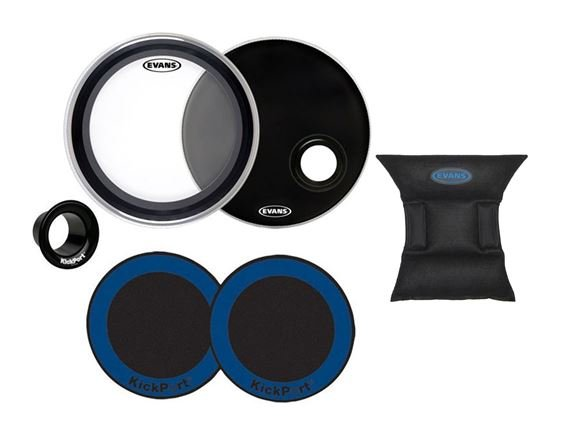 Evans EMAD Bass Drum Head and Accessory Package