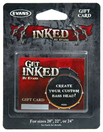 Evans Inked Custom Bass Drum Head Gift Card