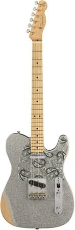 Fender Brad Paisley Road Worn Telecaster Silver Sparkle with Gig Bag