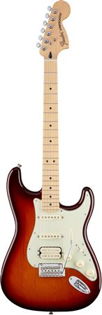 Fender Deluxe Stratocaster HSS Maple Neck Tobacco Sunburst with Bag