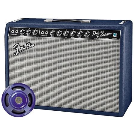 Fender LE Navy Blue 65 Deluxe Reverb Tube Combo Amplifier