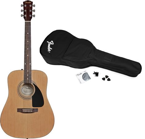 Fender FA100 Dreadnought Acoustic Guitar Package