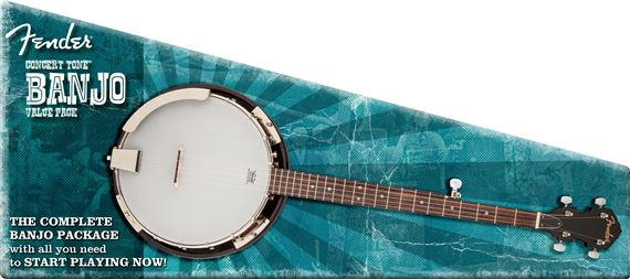 Fender Concert Tone Resonator Banjo Pack with Bag