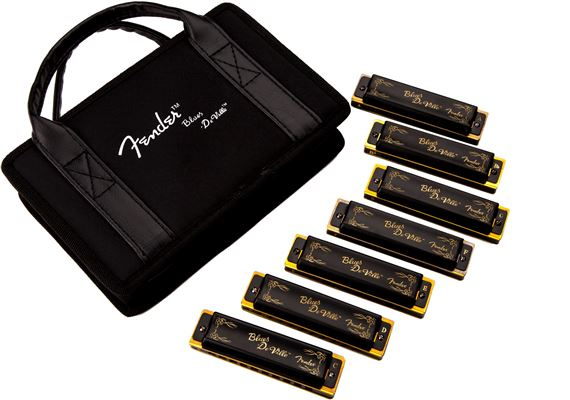 Fender Blues Deville Harmonica 7 Pack with Case