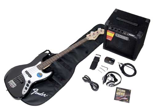 Squier Stop Dreaming Start Playing Affinity Jazz Bass Package
