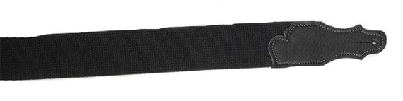 Franklin 1-BK-BK Cotton Guitar Strap 2 Inch