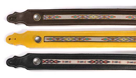 Franklin Southwest Series 2 Inch Leather Guitar Strap