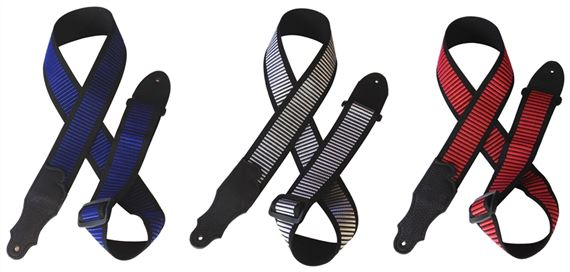 Franklin Bar Weave Nylon Guitar Straps with Leather Ends