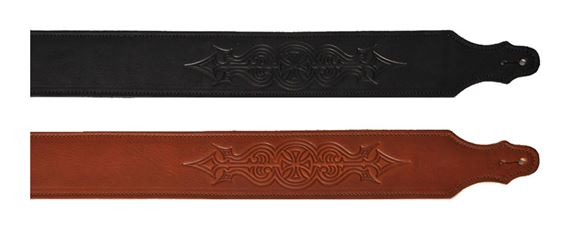 Franklin Embossed Glove Leather Guitar Strap 2.5 Inch