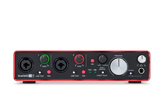 Focusrite Scarlett 2i4 Generation 2 USB Audio Interface