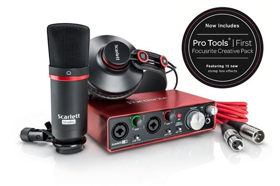 Focusrite Scarlett 2i2 Studio Generation 2 Recording Package