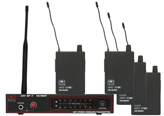 Galaxy Audio AS-900-4 Band Pack Wireless In Ear Monitor System
