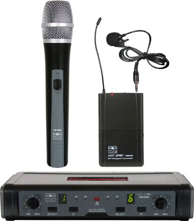 Galaxy Audio  ECDR/HHBPV UHF Handheld and Lapel Wireless Mic System