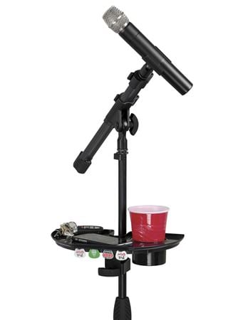 Gator GFWMICACCTRAY Mic Microphone Stand Accessory Tray with Drink Holder