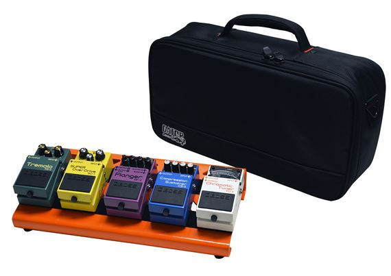 Gator GPBLAKOR Orange Aluminum Small Pedal Board with Bag