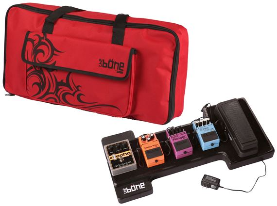 Gator GBONE Molded PE Pedalboard with Carrying Bag Case