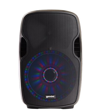 Gemini AS-12BLU-LT 12 Inch Powered Loudspeaker with Lights