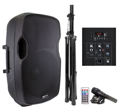 Gemini AS 15BLU PK Powered Speaker with Stand and Mic