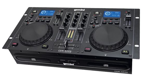 Gemini CDM4000 Dual DJ Media CD Player