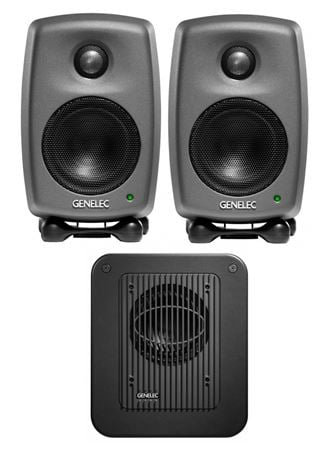 Genelec 8010 LSE StereoPak 8010A Monitor Pair With 7040A Subwoofer