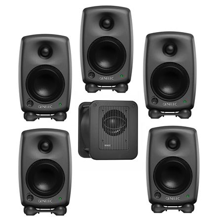 Genelec 8020 LSE Espresso Surround 5/1 5 8020C With 7040B Subwoofer