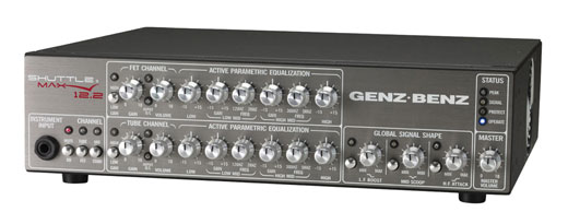 Genz Benz ShuttleMAX 12.2 Bass Guitar Amplifier Head