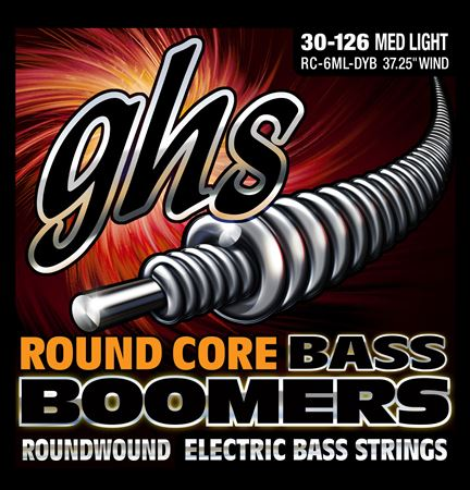GHS Round Core Bass Boomers 6-String Bass Strings