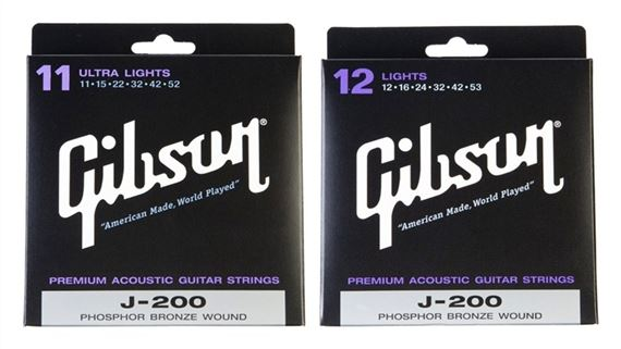 Gibson J200 Deluxe Phosphor Bronze Acoustic Guitar Strings