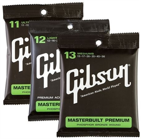Gibson Masterbuilt Phosphor Bronze Acoustic Guitar Strings
