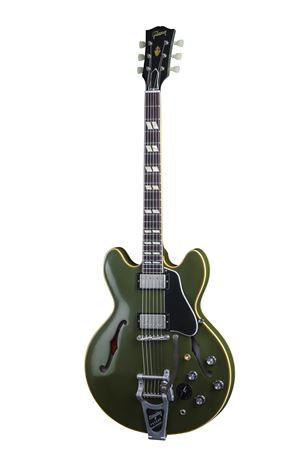 Gibson Memphis LE 1964 ES345 Olive Drab Green with Bigsby with Case