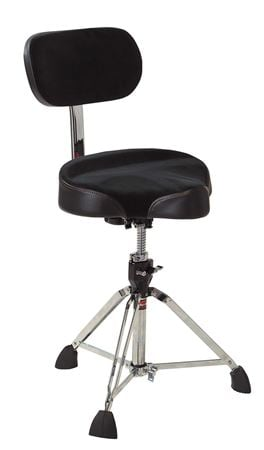 Gibraltar 9608MB Motorcycle Spin Up Base Drum Throne with Back Rest