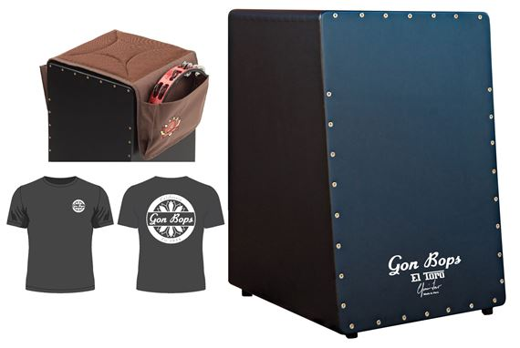 Gon Bops El Toro Snare Cajon With Carry Bag CJSPAD