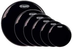 Evans Hydraulic Black Drum Heads