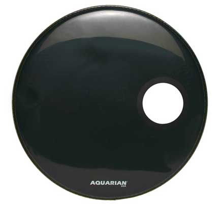 Aquarian Regulator Ported Black Bass Drum Heads
