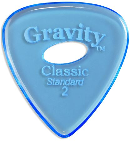 Gravity Picks Classic Standard Guitar Pick Eclipse Grip Hole