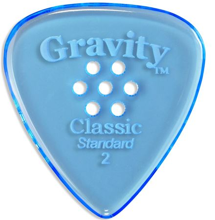 Gravity Picks Classic Standard Guitar Pick Multi Grip Hole